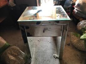 Glass mirror dresser unit
