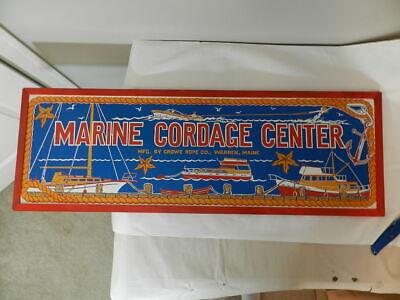 VINTAGE ADVERTISING SIGN-MARINE CORDAGE CENTER- CROWE ROPE CO.-VINTAGE NAUTICAL