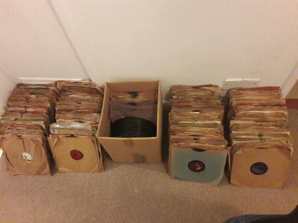 large gramaphone record collection