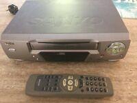 Sanyo VHS machine and job lot of kids movies