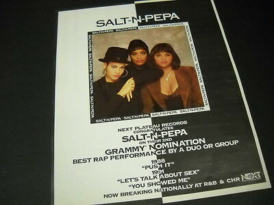 SALT N PEPA Their 2nd Grammy Nomination 1992 PROMO POSTER AD mint condition