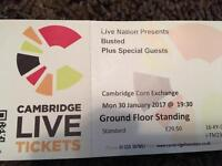 Busted tickets for Cambridge on 30th January