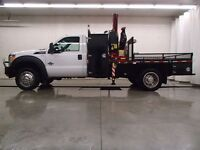 2012 Ford F-550 CHASSIS CAB R/CAB XL 4X4 PICKER TRUCK