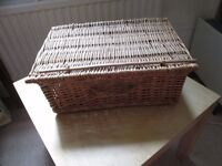 Beautiful Wicker Picnic Basket in Perfect Condition