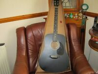 EASTWOOD FULL SIZE ACOUSTIC GUITAR.