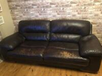Sofology 3 seater leather sofa & chair (open to offers)