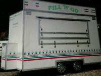 A & R PROFESSIONAL MANUFACTURERS 12 X 7 TWIN AXLE CATERING TRAILER / BURGER VAN FULLY EQUIPPED