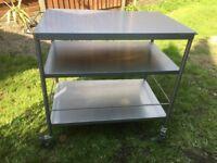 Ikea Flytta stainless steel kitchen trolley