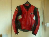 Alpinestars 2 piece sports leather suit size 46