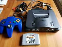Nintendo 64 Console with game
