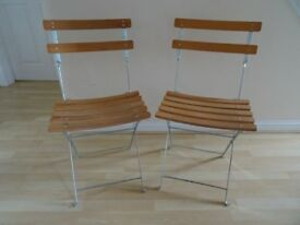 Pair of Bistro Fold-up Chairs