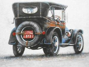 1914 CADILLAC 30/QUALITY PRINT CARL ILLINI AUTOMOBILE ARTIST London Ontario image 1