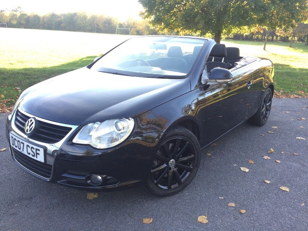 Volkswagen EOS 2.0 TDI Convertible with Panoramic Glass Roof, FSH not golf, astra, 307, a3