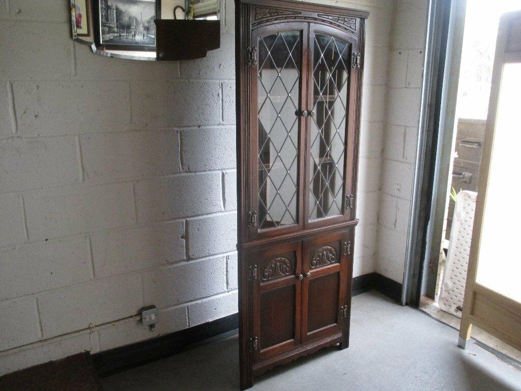 CABINET WITH LEADED GLASS FREE DELIVERY