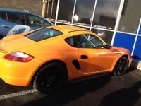 Porsche Cayman S 3 .4 bright orange two owners from new
