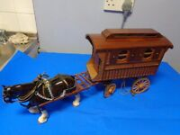 Collectors model Travellers / Showmans Caravan and Shire Horse
