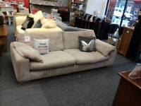 Beautiful grey cord 4 seater sofa