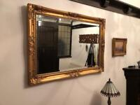 NEW REDUCED PRICE!! Gold framed mirror