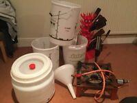 Brewing equipment, various items