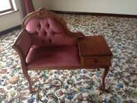 Antique chair- phone stand