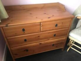 Nursery Furniture Changing Table Wooden Chest of Drawers