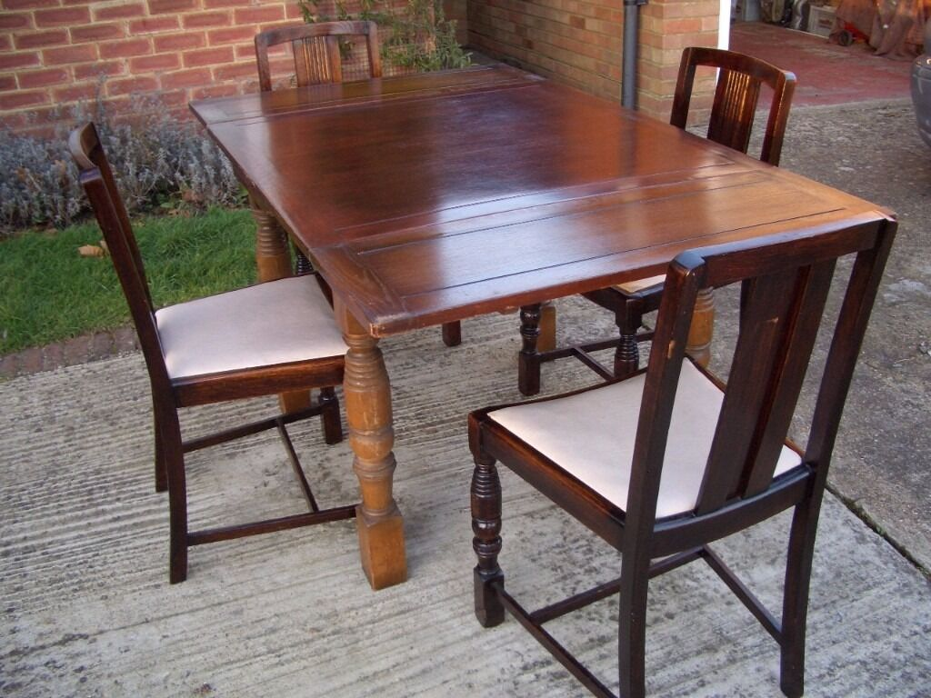 Retro Extending Dining Table Solid Wood Retro Extending Dining Table With Carved Legs 4