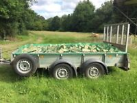 Fully seasoned hardwood logs, firewood with free delivery and stacking