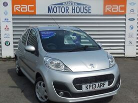 Peugeot 107 ACTIVE (£0.00 ROAD TAX) FREE MOT'S AS LONG AS YOU OWN THE CAR!! (silver) 2013