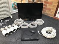 CCTV 4 HD night vision cameras POE