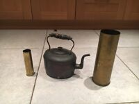 Brass shells and Cooper kettle