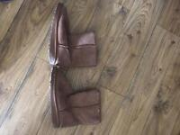Brown emu boots size 5