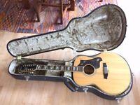 Vintage Ibanez Concord 542 Twelve 12 String Guitar with Hard Case
