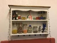 Distressed Kitchen Wall Shelf Unit