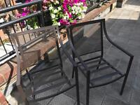 6 x Garden Chairs Outdoor Chairs as New