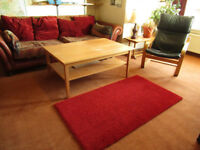 Red Ikea Adum rug, 80 x 150 cm, very clean and excellent condition