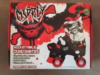 Osprey Adjustable Quad Roller Skates - Size 13-3 - Red & Black