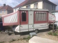 1989 conway cardinal hard top camper trailer tent pop up camper