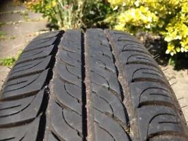 185/65R15 inflated on 1998 Nissan primera min 6mm in excellent condition collection only