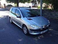 53 Plate Peugeot 206 SW Estate. Brand New MOT to July 2017. Great condition.