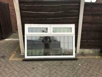 Upvc double glazed leaded window