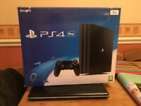 Playstation Ps4 Pro 1tb and games