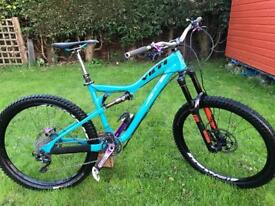 Yeti full suspension mountain bike.