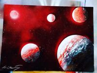 Personalised spray paint art