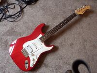 Aria STG series electric guitar. Superb candy apple red