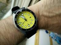 Seiko automatic divers custom watch