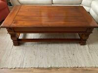 Pinewood coffee table and lamp table