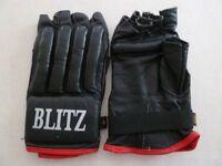 Boxing fingerless gloves by Blitz (size medium)