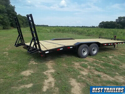 8 X 24 Low Pro Half Deckover 7 Ton Hd Bobcat Equipment Trailer 24ft Flatbed 14k