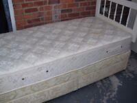 2-DRAWER SINGLE DIVAN BED