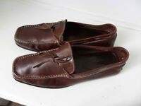 Mens TODS Italian Brown Leather Loafers RRP £225+ Size 8